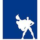 My Superhero 03 Super Blue Minimal poster by Chungkong