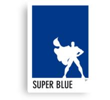 My Superhero 03 Super Blue Minimal poster Canvas Print