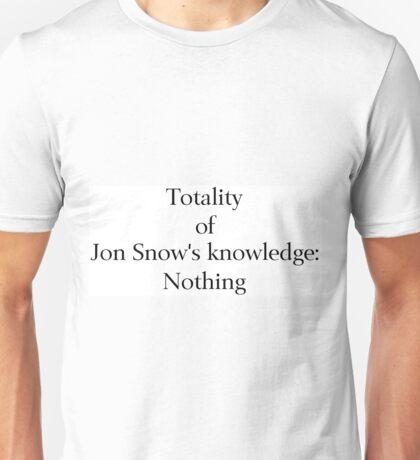 Jon Snow Knows Nothing Unisex T-Shirt