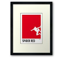 My Superhero 04 Spider Red Minimal poster Framed Print