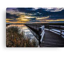 Farmington Bay Sunset - Great Salt Lake Canvas Print