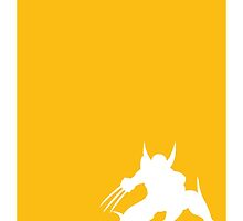 My Superhero 05 Wolf Yellow Minimal poster by Chungkong