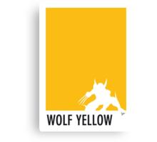 My Superhero 05 Wolf Yellow Minimal poster Canvas Print