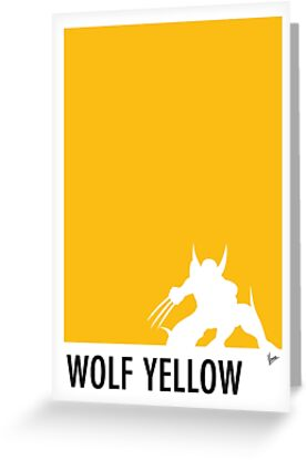 My Superhero 05 Wolf Yellow Minimal poster by Chungkong