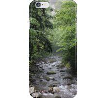 Rushing water, dark skies iPhone Case/Skin