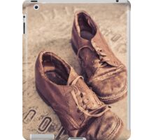 Old leather shoes iPad Case/Skin