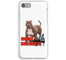 Pit bull Boston terrier security iPhone Case/Skin