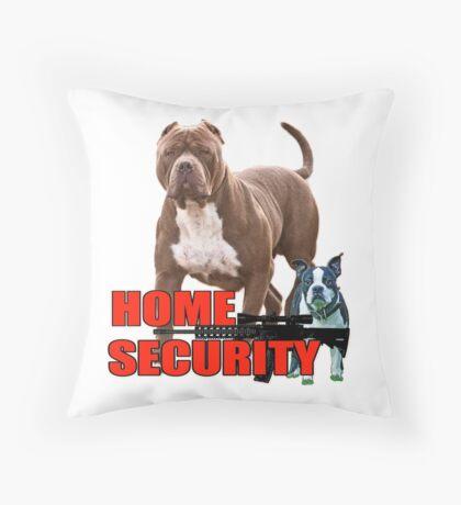 Pit bull Boston terrier security Throw Pillow