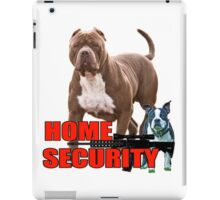 Pit bull Boston terrier security iPad Case/Skin