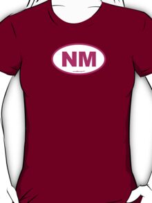 New Mexico NM Euro Oval PINK T-Shirt