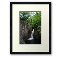 Idyllic Yorkshire dales Waterfall Framed Print