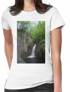 Idyllic Yorkshire dales Waterfall Womens Fitted T-Shirt
