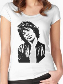 mc jagger 2 Women's Fitted Scoop T-Shirt