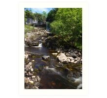 Waterfall in Beautiful Yorkshire Art Print