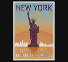 New York vintage poster Kids Clothes