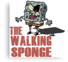 The Walking Spongebob - Walking dead Canvas Print