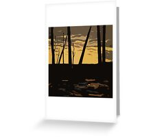 Sunset at Finn Slough Greeting Card