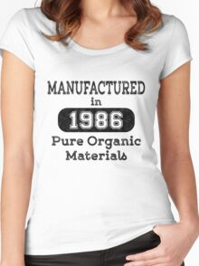 Manufactured in 1986 Women's Fitted Scoop T-Shirt