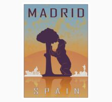 Madrid vintage poster Kids Clothes