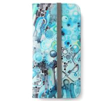 Water Crystals - Abstract Geometric Watercolor Painting iPhone Wallet/Case/Skin