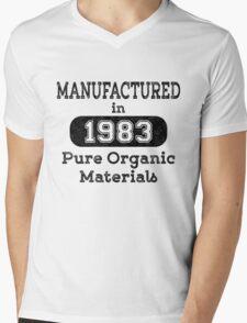 Manufactured in 1983 Mens V-Neck T-Shirt
