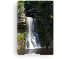 Beautiful Waterfall in the Yorkshire dales Canvas Print