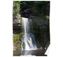 Beautiful Waterfall in the Yorkshire dales Poster