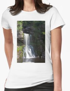 Beautiful Waterfall in the Yorkshire dales Womens Fitted T-Shirt