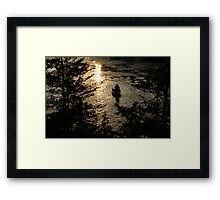 Fishing at Sunset - Thousand Islands, Saint Lawrence River Framed Print