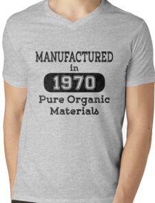 Manufactured in 1970 Mens V-Neck T-Shirt
