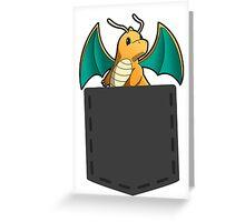 Pokemon - Dragonite in pocket Greeting Card
