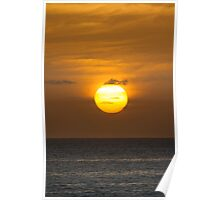 Golden sky at dawn Poster