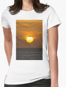 Golden sky at dawn Womens Fitted T-Shirt