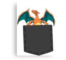 Pokemon - Charizard in pocket Canvas Print