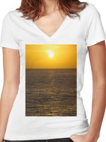 A beautiful sunrise  Women's Fitted V-Neck T-Shirt