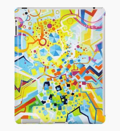 Birth of the Circle - Abstract Acrylic Canvas Painting iPad Case/Skin