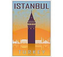 Istanbul vintage poster Photographic Print