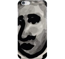 Male Head -(031014)- Digital artwork/Zen Brush iPhone Case/Skin