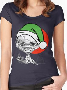 Let Smile Xmas Tree Women's Fitted Scoop T-Shirt
