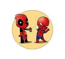 Deadpool & Spider-Man Photographic Print