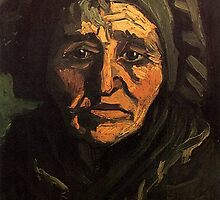 Head of a Peasant Woman with Greenish Lace Cap by Vincent van Gogh. by naturematters