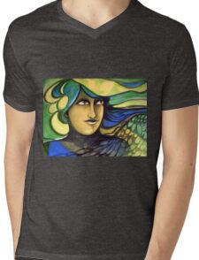 Green Goddess. Mens V-Neck T-Shirt