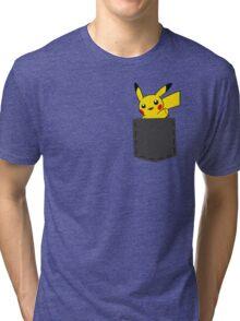 Pokemon - Pikachu in pocket Tri-blend T-Shirt