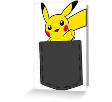 Pokemon - Pikachu in pocket Greeting Card