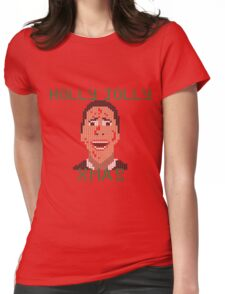 Faux-Knitted Christmas Bateman Womens Fitted T-Shirt