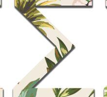 Tropical Tri Sigma Sticker