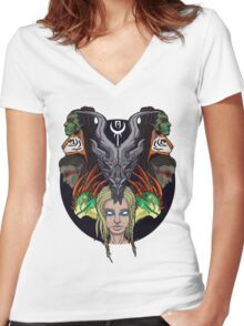 Dragonborn Women's Fitted V-Neck T-Shirt