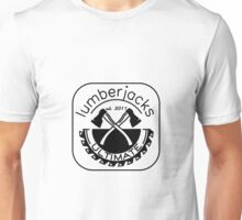 Lumberjacks ultimate frisbee logo - black Unisex T-Shirt