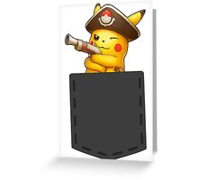 Pokemon - Pikachu with pirate cosplay in pocke Greeting Card