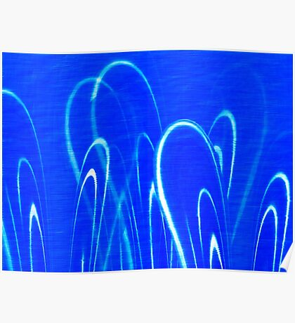 Undulating Blue Abstract  Poster